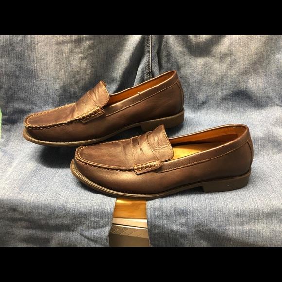 Izod Loafers Men's Size 9 1/2M Brown Memory Foam